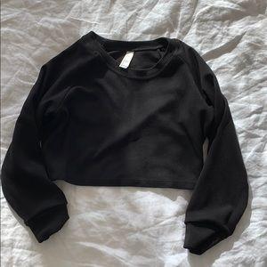 American apparel cropped sweatshirt